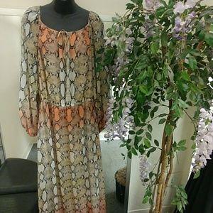 Boston Proper Snakeskin Maxi Dress